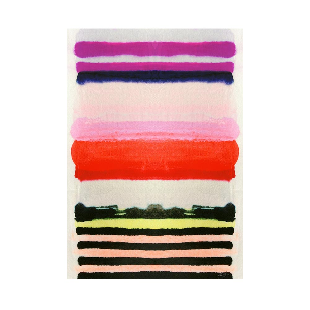 VIBRANT STRIPE - TRADITIONAL GALLERY PRINTCANVAS GALLERY WRAPLUXE LUCITE SHADOWBOX