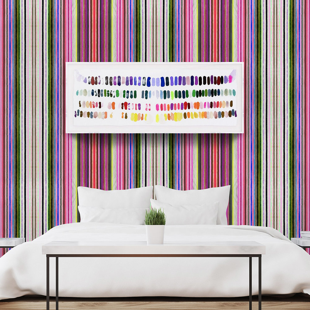 VIBRANT VIBES - WALLPAPER: CHROMATIC HARMONY 23PRINT: LEAVE A BIG MARK