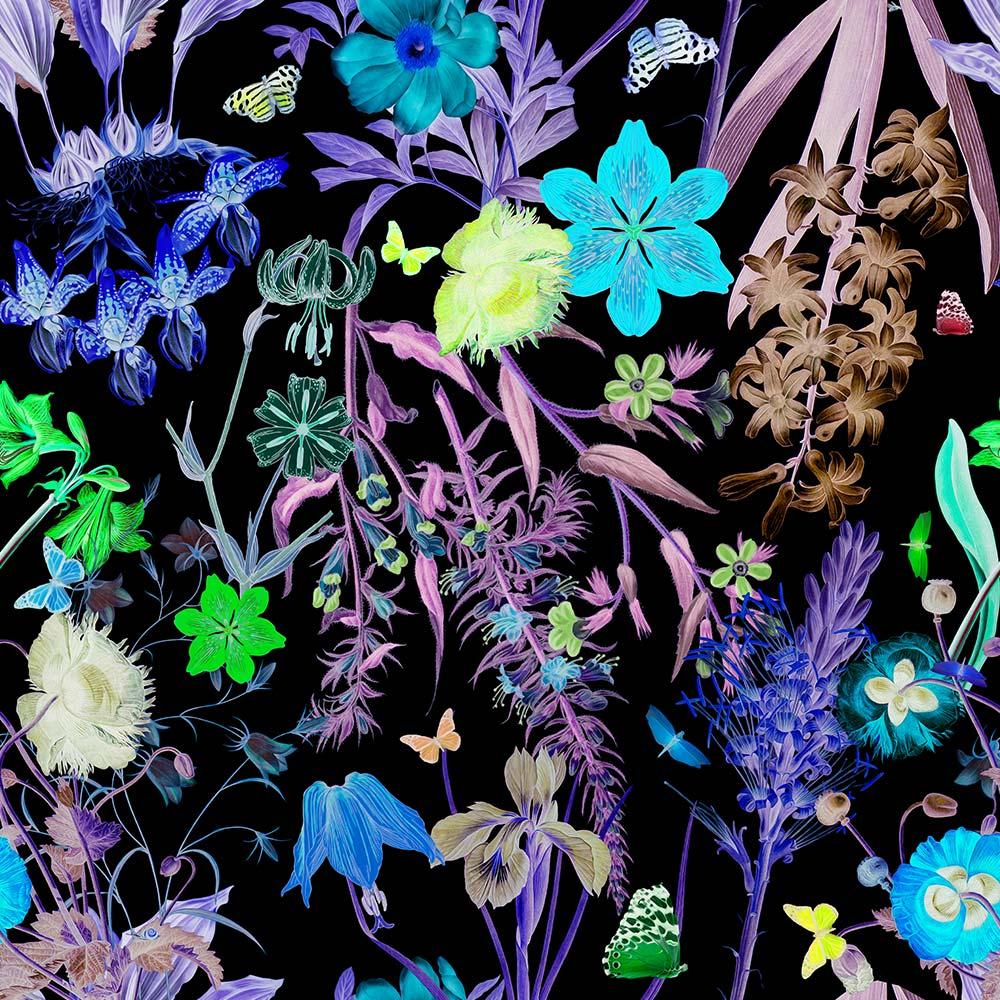 Floral Fantasy Bold Dark Wallpaper Kristi Kohut Studio