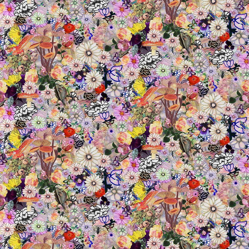 Whimsy Floral Bold Warm Wallpaper Kristi Kohut Studio