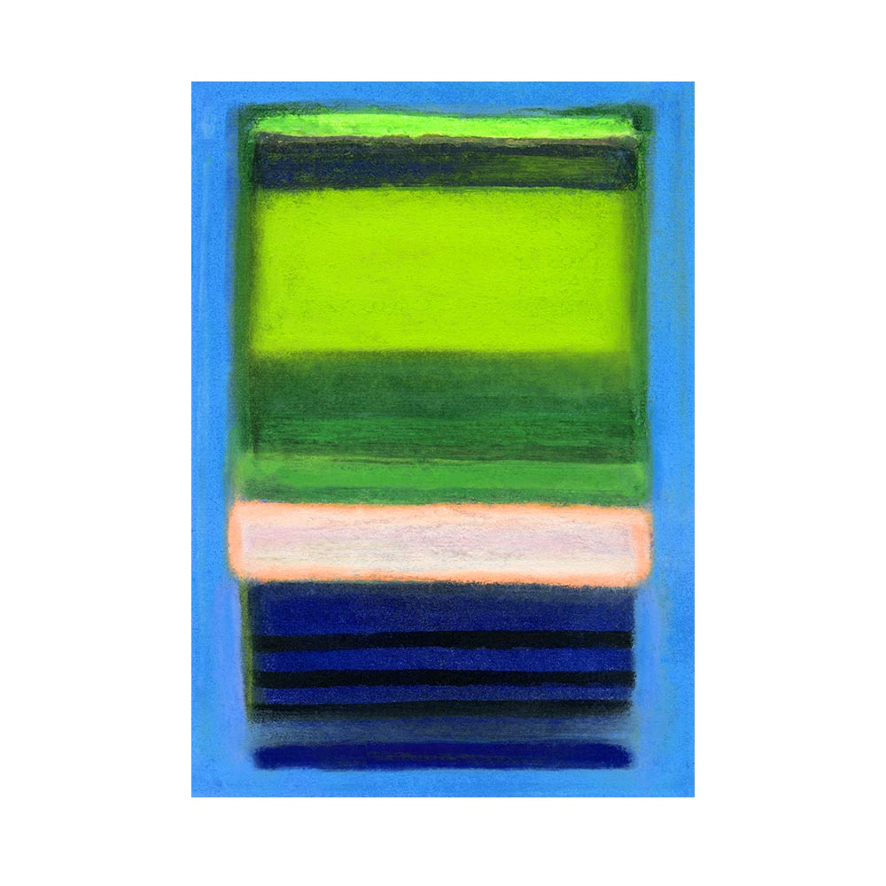 CHROMATIC FIELD #1 - TRADITIONAL GALLERY PRINTCANVAS GALLERY WRAPLUXE LUCITE SHADOWBOX