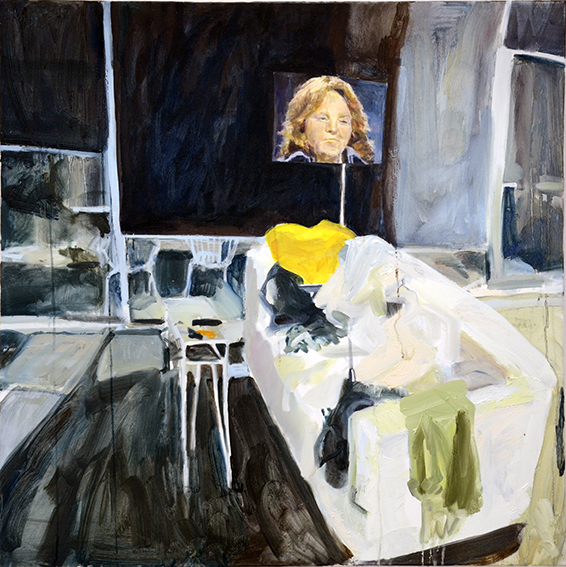 BEDROOMS   Albert Street, East Melbourne  (Bedroom Space No.2 )  oil on canvas, 90cm x 90cm , 2015