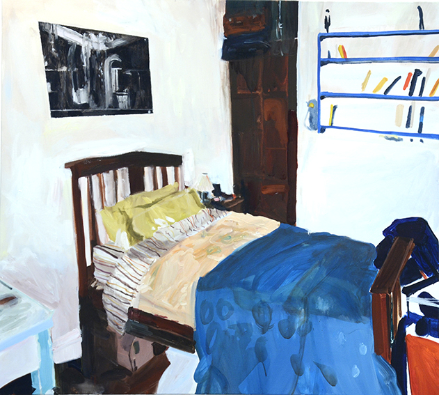 BEDROOMS   Harding Street, Coburg  (Bedroom Space No. 5)  Oil on linen, 90cm x 105cm, 2016