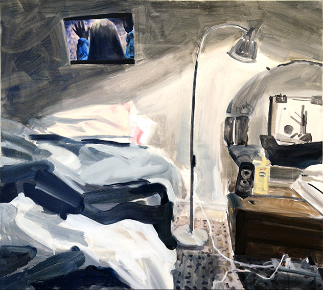 BEDROOMS  Rubicon Ari, Melbourne, March 2016   Cunningham Street, Northcote  (Bedroom Space No. 8)  Oil on linen, 90cm x 105cm, 2016.  Photography: Penelope Hunt