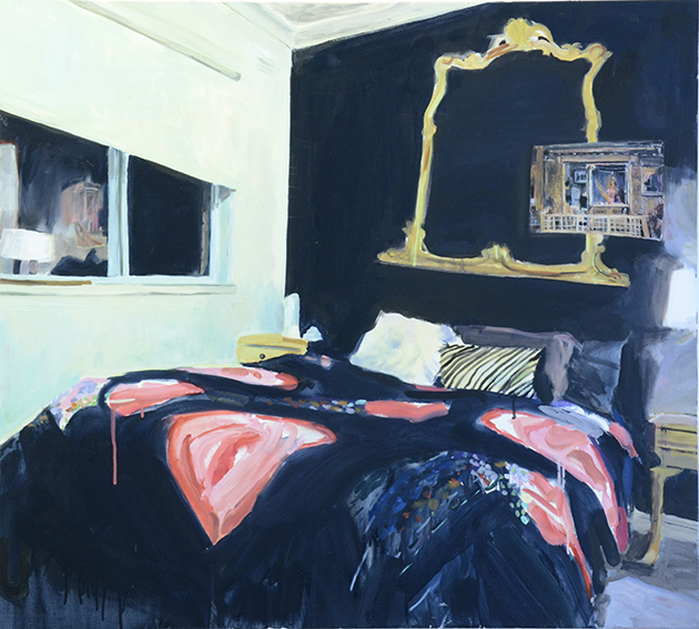 BEDROOMS  Coleman Road, Wantirna  (Bedroom Space No.6)  Oil on linen, 90cm x 105cm, 2016.
