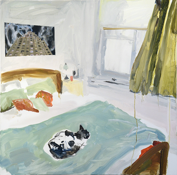 BEDROOMS   Beaconsfield Parade, Northcote  (Bedroom Space No 4)  Oil on canvas, 90cm x 90cm, 2015.