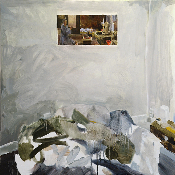 BEDROOMS   Albert Street, East Melbourne  (Bedroom Space No. 3)  Oil on canvas, 90cm x 90cm, 2015