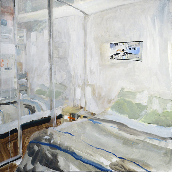 BEDROOMS   Michael Street, Brunswick  (Bedroom Space No.1)  Oil on canvas, 90cm x 90cm, 2015.