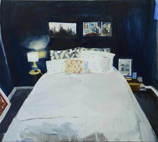 BEDROOMS   Kerford Court, South Morang  (Bedroom Space No.7)  Oil on linen, 90cm x 105cm, 2016.