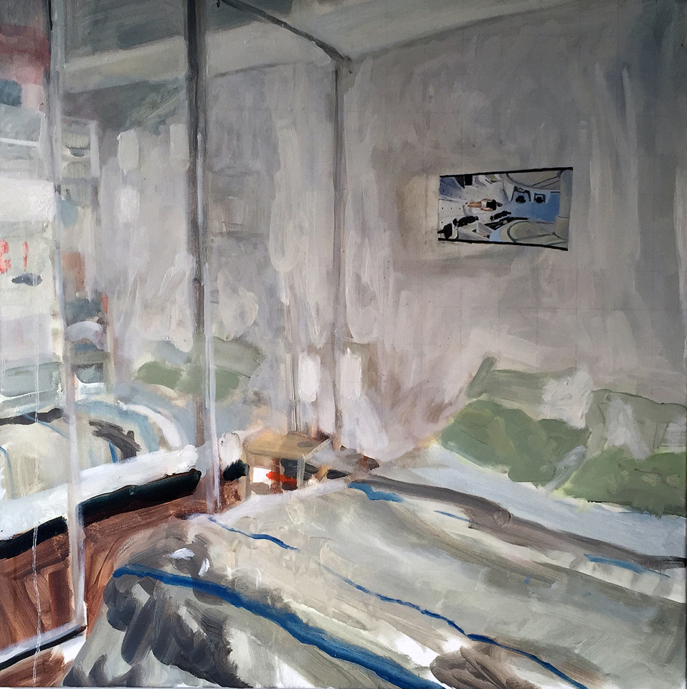 Michael Street, Brunswick  (Bedroom Space No.1) oil on canvas, 2015.