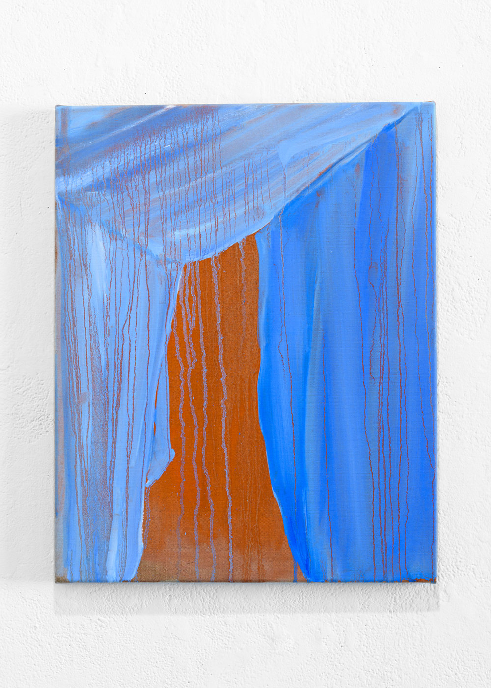 INTERIOR PLACEMENTS  Interior Placement 6 (Sheets)  Oil onlinen, 51cm x 41cm, 2016