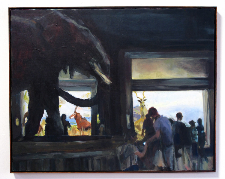 JOY TO THE OTHER WORLD  Shelter, (Natural History Museum, New York City)  Oil on linen, 66cm x 61.5cm, 2015