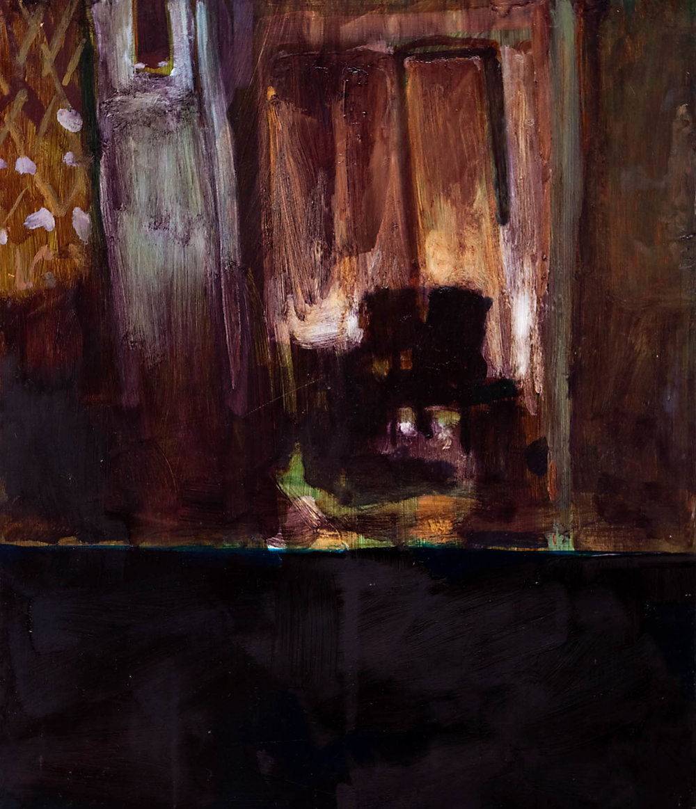 SHUTTER SPEED LUMINOSITY  Inside Day  Oil on masonite  59.4cm x 42cm, 2010
