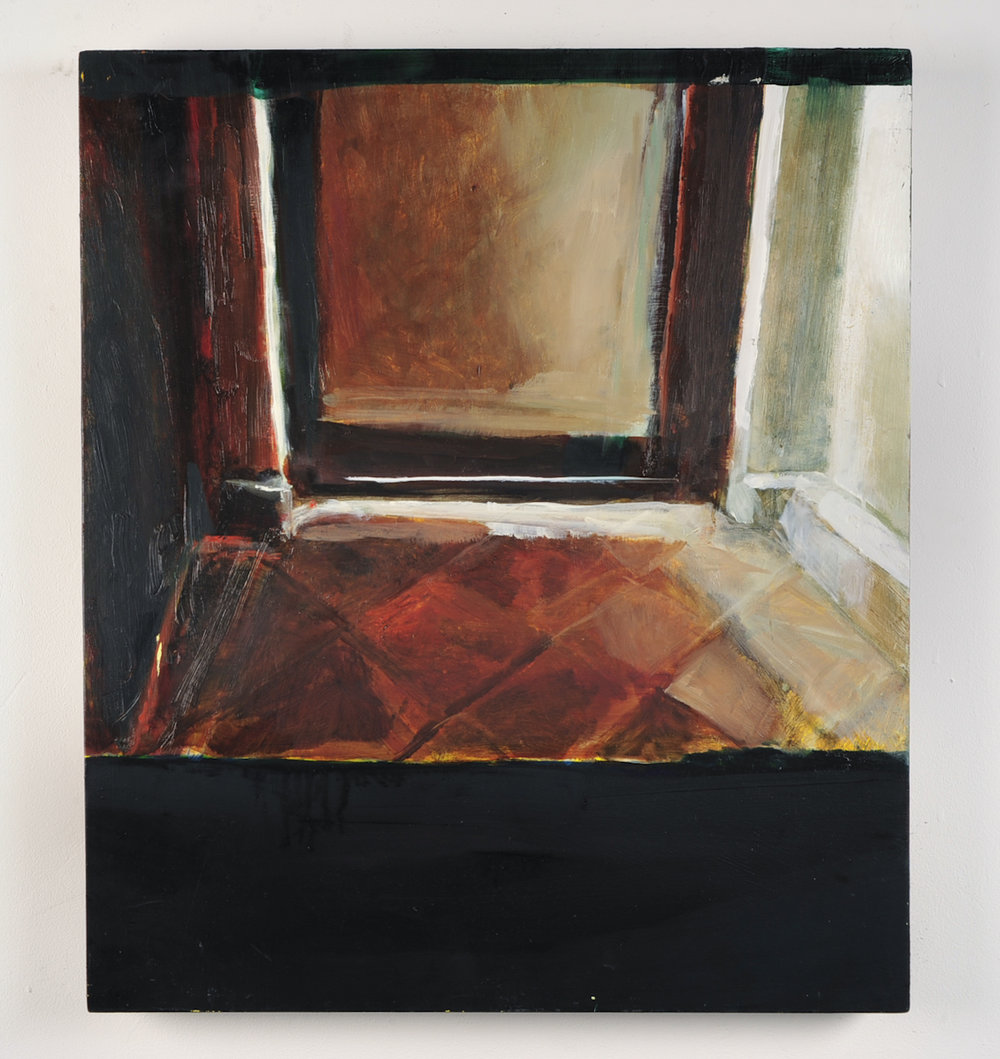 SHUTTER SPEED LUMINOSITY  Inside afternoon  Oil on masonite  59.4cm x 42cm, 2010