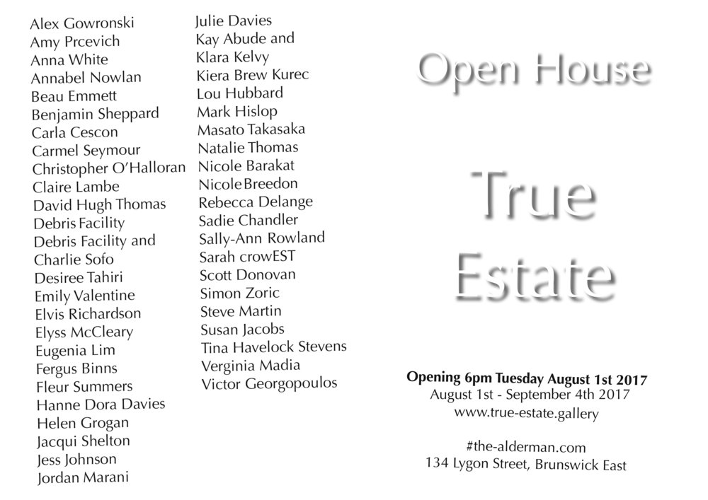 Open House invited artists to submit a collection, object, concept, drawing, model, painting, sculpture, mixed media, collage, ephemera, image, video, website, story, memory or dream that is found, inherited or created and tells a story about how, where or why you have lived as an artist.  Open House is an exhibition that will present this accumulated collection of artists objects and artworks and display them within a framework of reconstructed furniture and DIY building materials accompanied by a printed catalogue. The concept of Open House is to amass a collection of creative responses to housing specifically from artists so as to explore the emotional, economic, social and physical circumstances of living as an artist, historically and today.