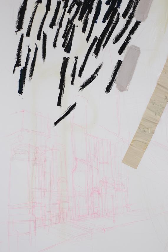 Sides 2 (detail) mixed medium on paper, 2013 Photography: Jon Butt