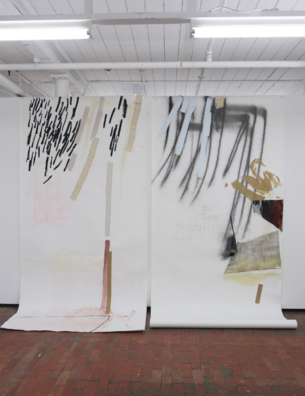 Sides 1, 2, Mixed medium on paper, 2013 Photographer: Jon Butt
