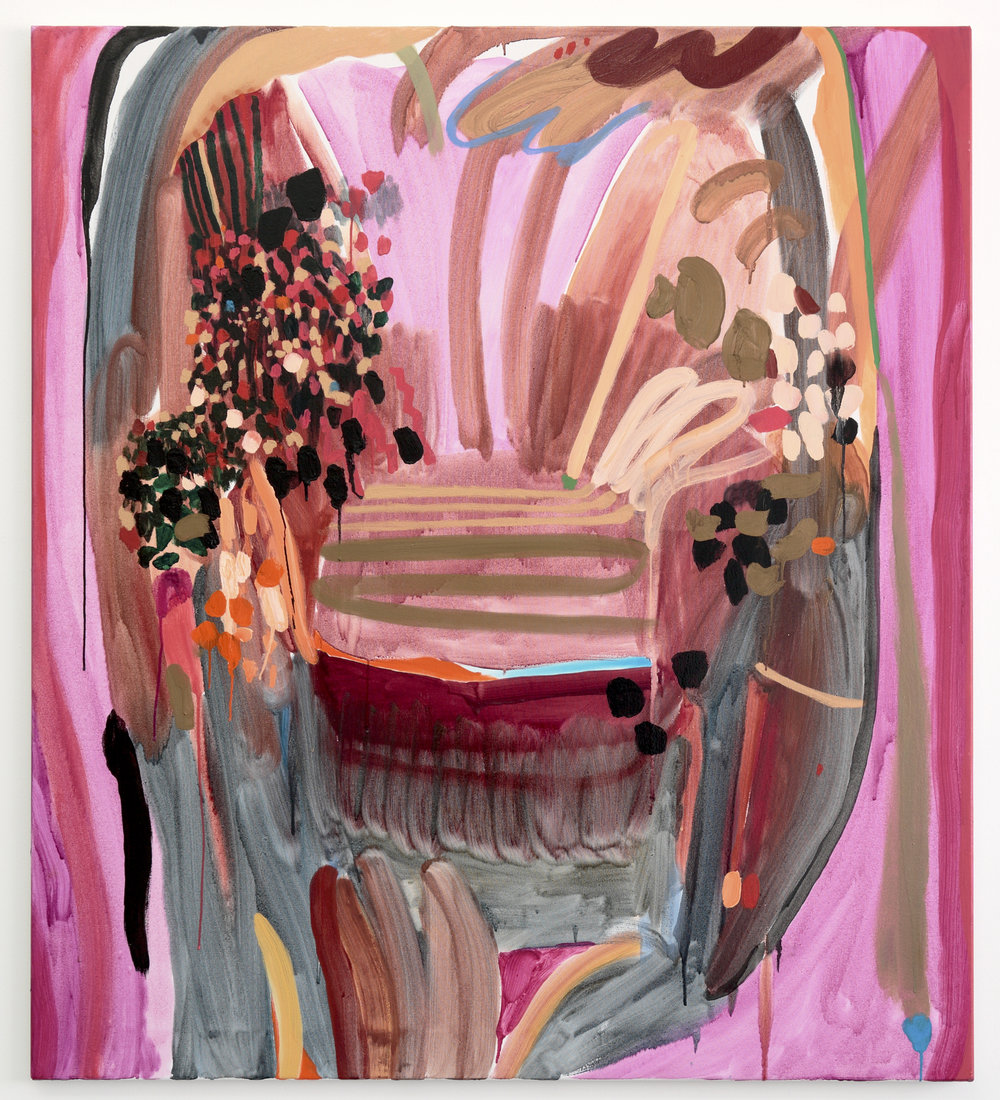 Orchestra of Pink, 2018, Oil on linen, 140 x 125.5 cm