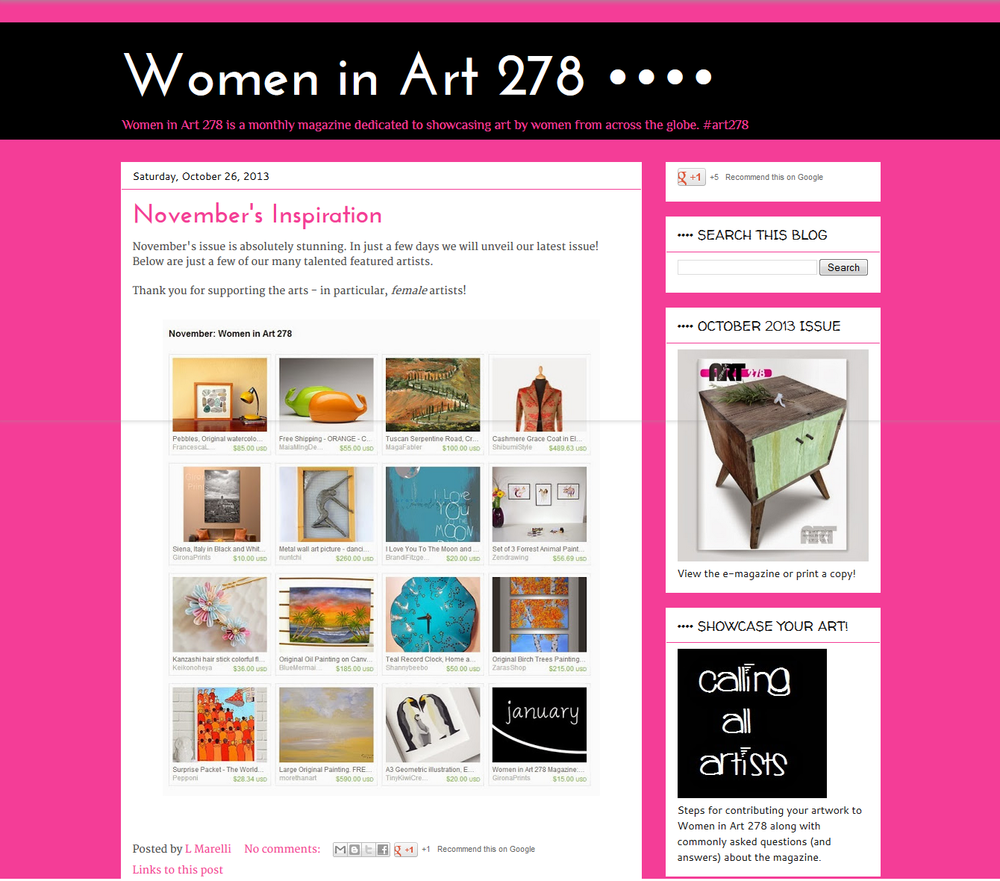 WOMEN IN ART 278 26 OTTOBRE 2013.png