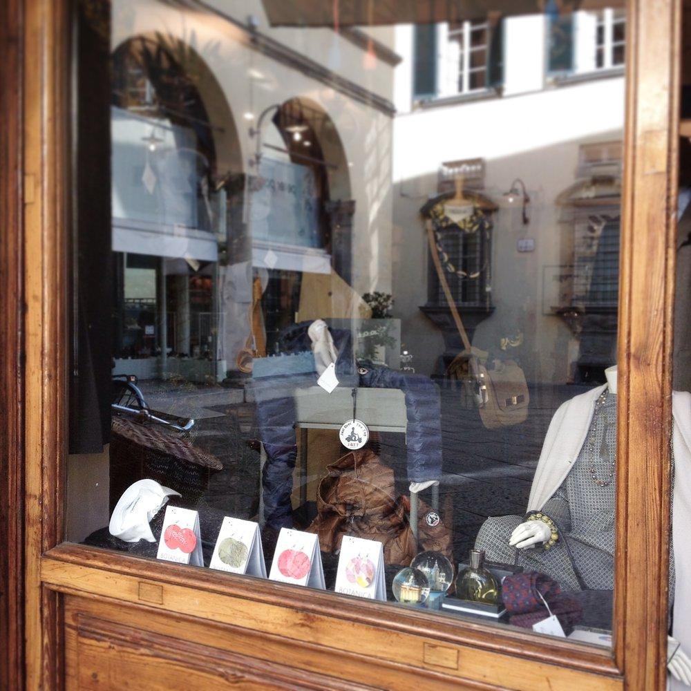 Orecchini Botanica in vetrina