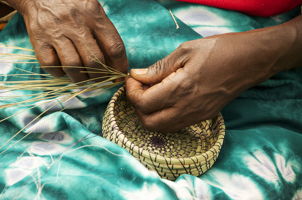 Basket weaving for peace, Rwanda
