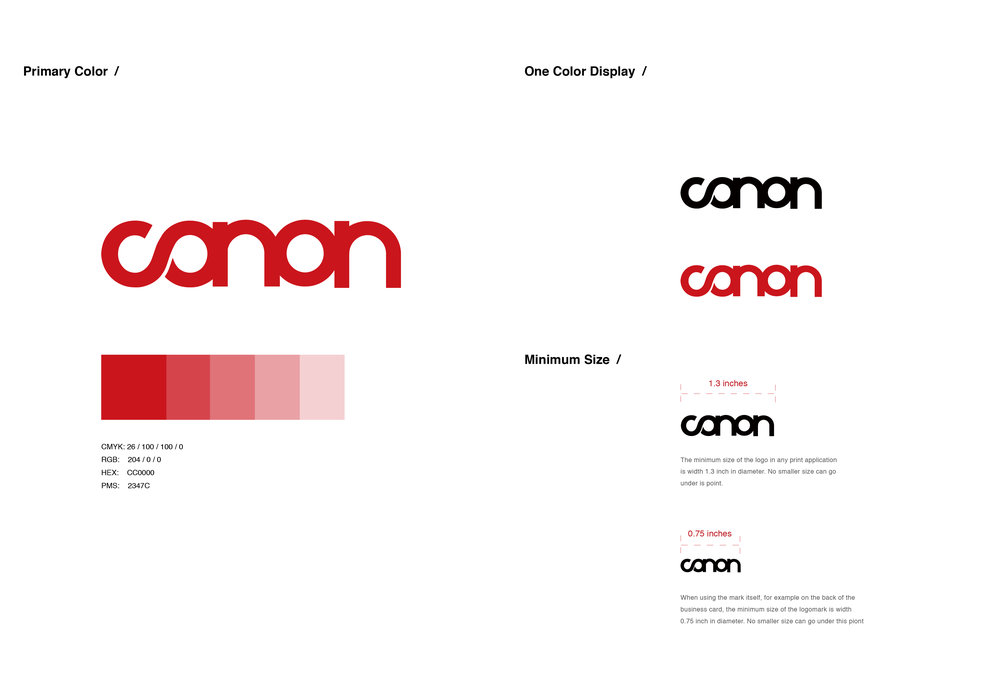 For the color, I keep Canon's original color because the original color of Canon is significantly recognized by audiences, this is the symbol of its leading position in the industry.