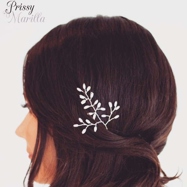 Silver Pearl Slider, by Prissy Marilla #wedding #bridaljewellery #weddingjewellery #bridetobe