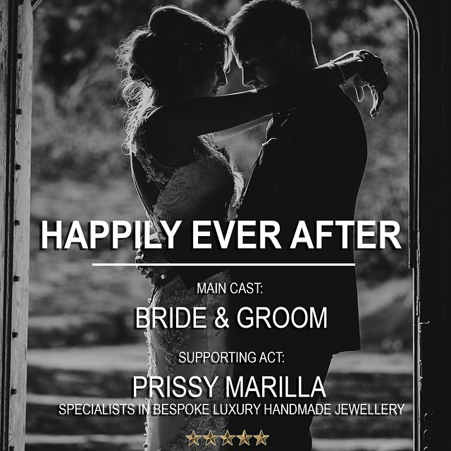 """Proud to play the supporting role to """"Happily Ever After""""  Prissy Marilla - Bespoke luxury handmade jewellery #weddingjewellery #bridaljewellery #bridetobe"""