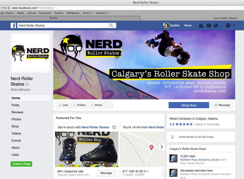 Nerd Roller Skate Facebook Banner