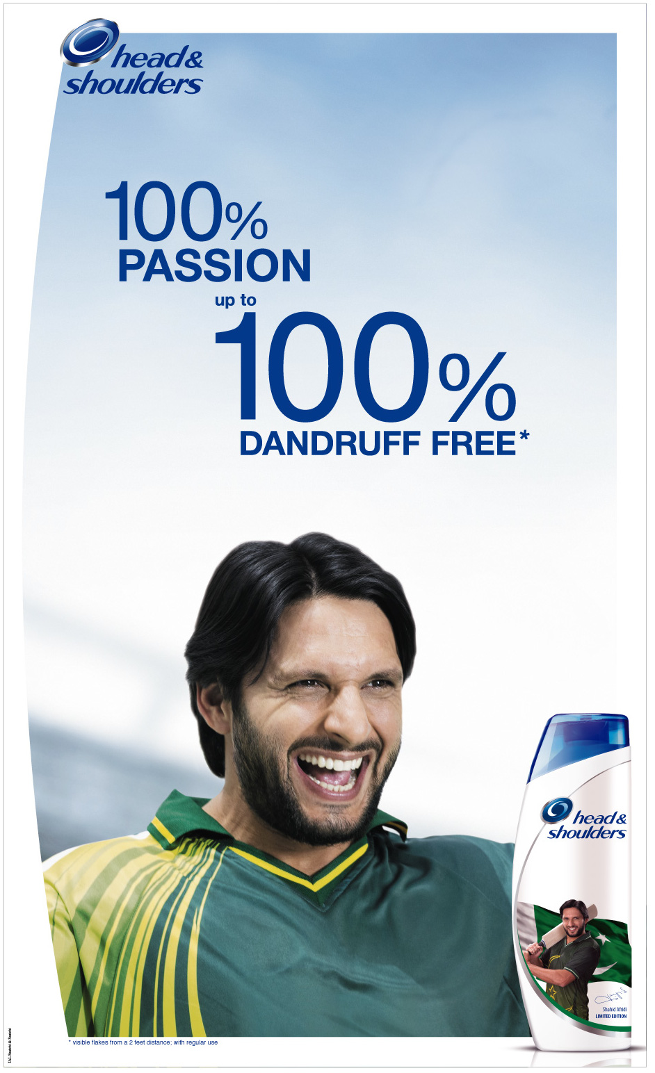 Head & Shoulders Shahid Afridi Limited Edition Bottle
