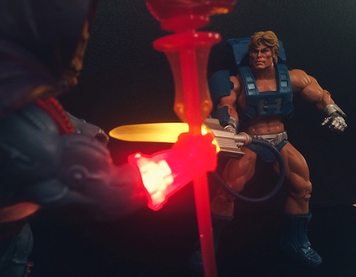 Laser Power He-Man & Laser Light Skeletor (MOTUC)