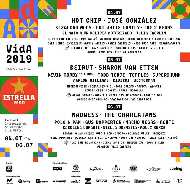✨ Així queda el cartell del VIDA 2019 amb les noves incorporacions! ✨ #VidaFestival2019  Tickets 🎟️ link bio