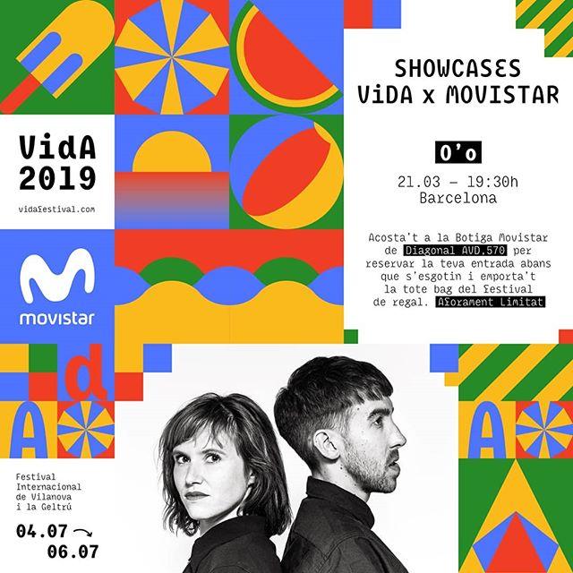 ✨Aquest dijous 21 de març celebrem el primer Showcase VIDA x Movistar amb l'actuació del dúo francès O'o! ✨#ShowcasesVIDAxMovistar #VidaFestival2019  Per a assistir al concert, gratuït però amb aforament limitat, només has de recollir la teva entrada a la botiga Movistar+ on se celebrarà el showcase (Avinguda Diagonal 570, Barcelona). A més de les invitacions, els assistents als showcases aconseguiran una tote bag oficial del festival.