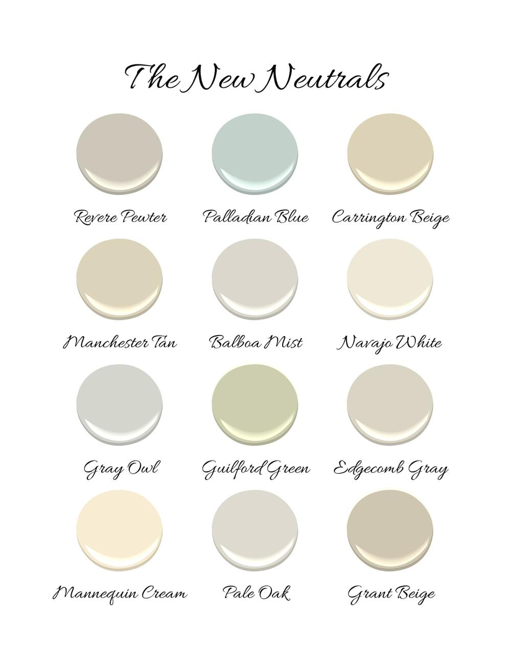 Benjamin moore the new neutrals kristin ashley interiors for Best light neutral paint