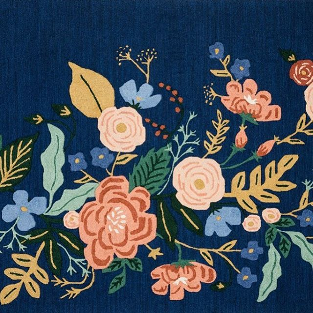 Patiently waiting for this @riflepaperco rug to come in so I can use it in my client's guest bedroom! It's like a piece of art for the floor! 😍#kristinashleyinteriors #annariflebond @annariflebond #rugs #arearugs #floralmotif #floraldesign #floorart