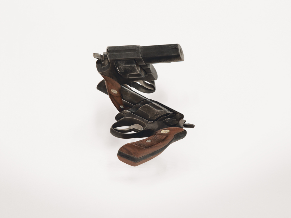 gun  (iv), 2008 steel, walnut 9 x 7 x 5 inches