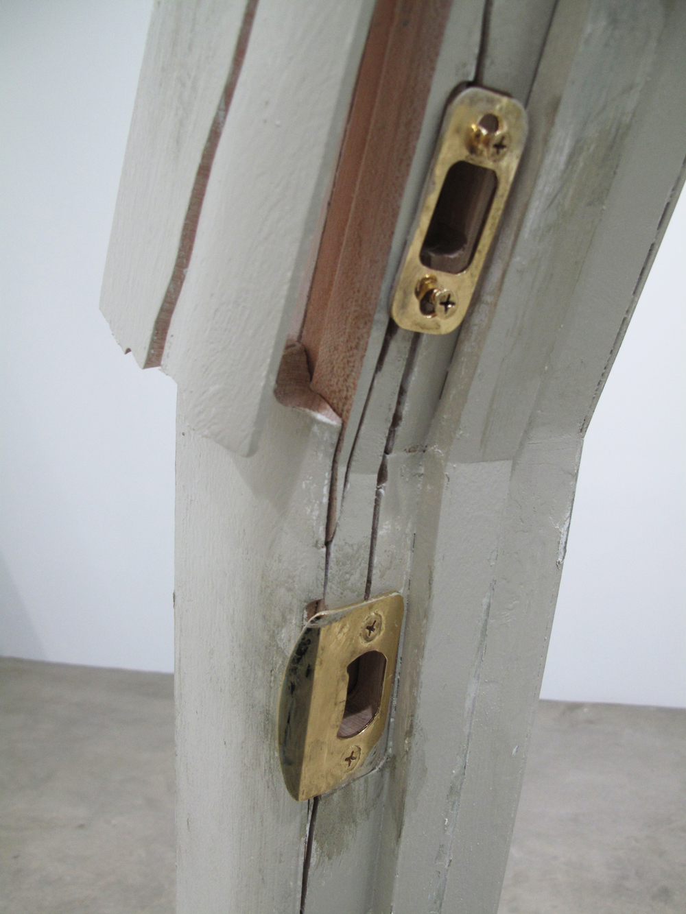 motel door (kicked-in) detail & motel door \u2014 robert lazzarini