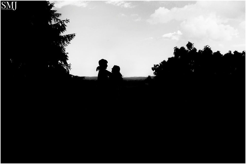 I did something during their session that I've never done at any other. I started off their session by taking a silhouette. I just loved how the trees and fields fell into darkness and highlighted Addy and Nathan against the sky.