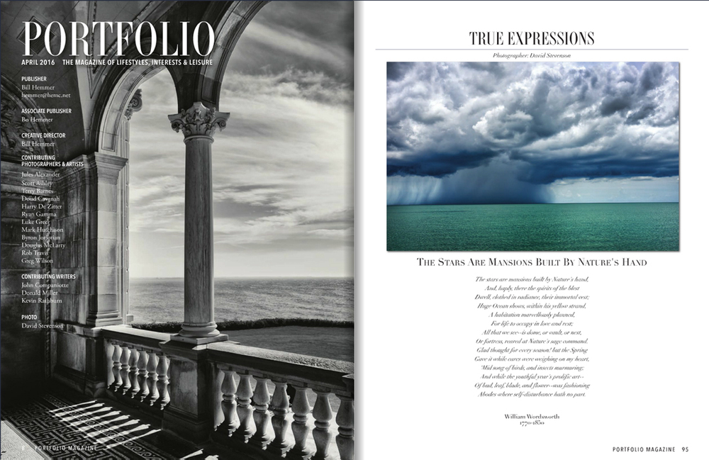 A few more pages highlighting our work.  The left image was captured in Newport Rhode Island and the right image of a thunderhead was shot on the Gulf Coast of Florida