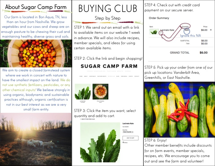 Page 2 of our buying club pamphlet
