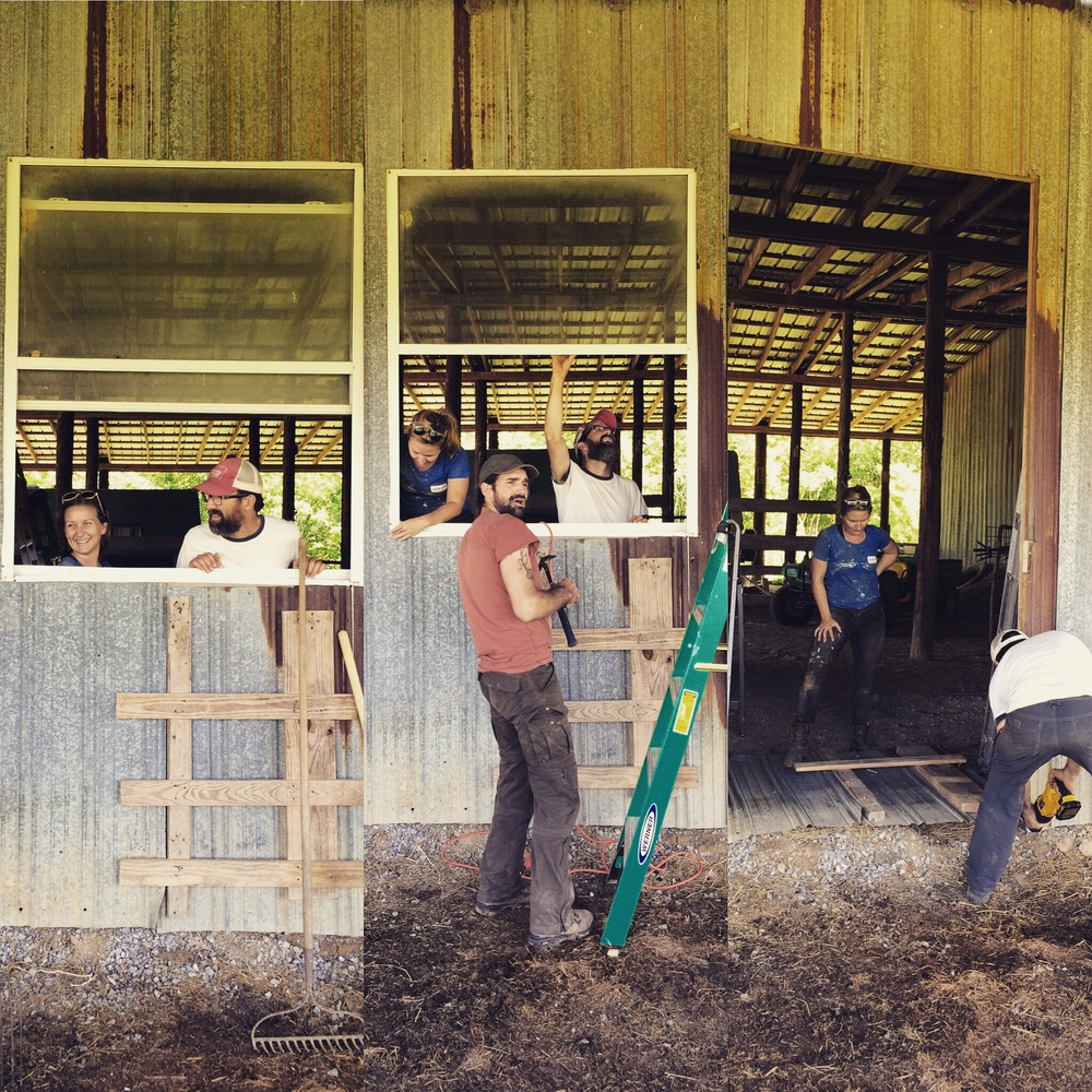 That time we obliterated the window and made a doorway in the barn!