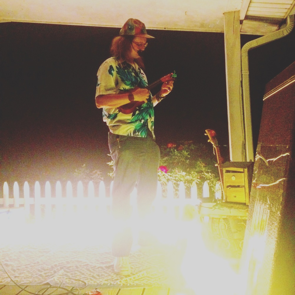 A picture from our house concert last Friday night on our porch. This is Googolplexia.
