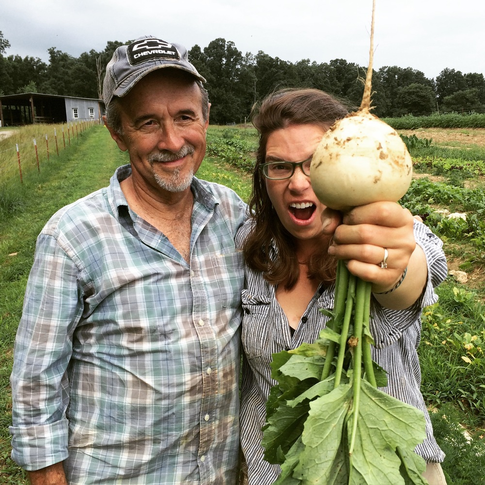 Tony and I and an enormous turnip!!