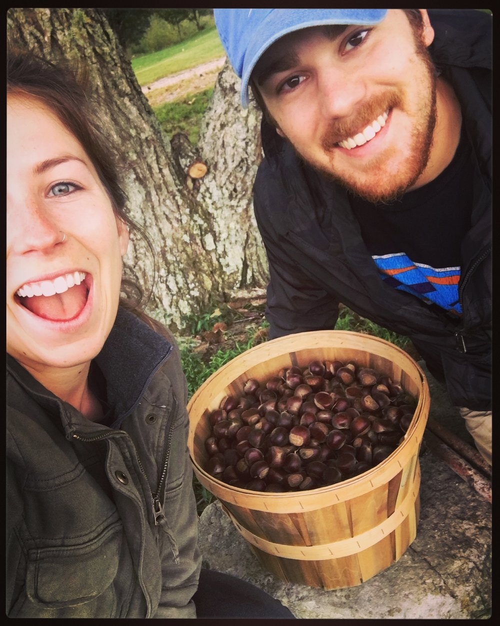 Mel and Ty and the chestnuts.