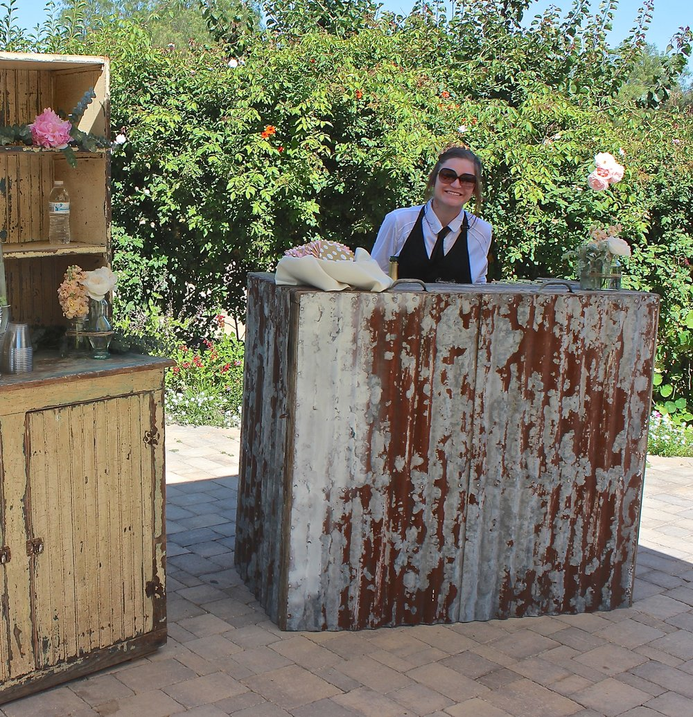 RUSTIC MINI BAR FOR WELCOME GARDEN - $75