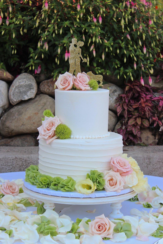ROUND WHITE CAKE STANDS - $25-$35