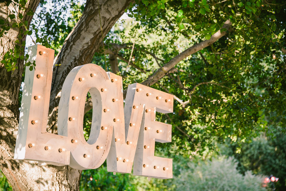LOVE MARQUE SIGN - $175