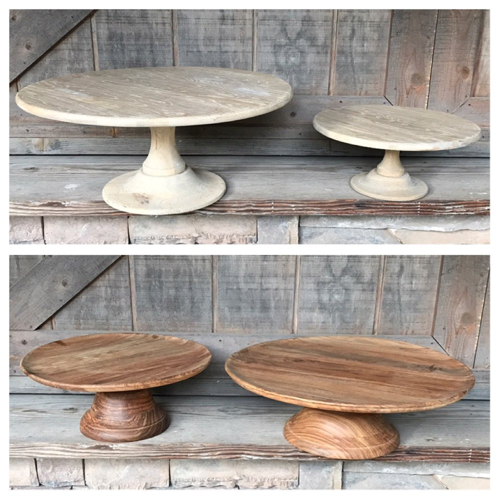 GRAY & BROWN PEDESTAL STANDS - $30-$45