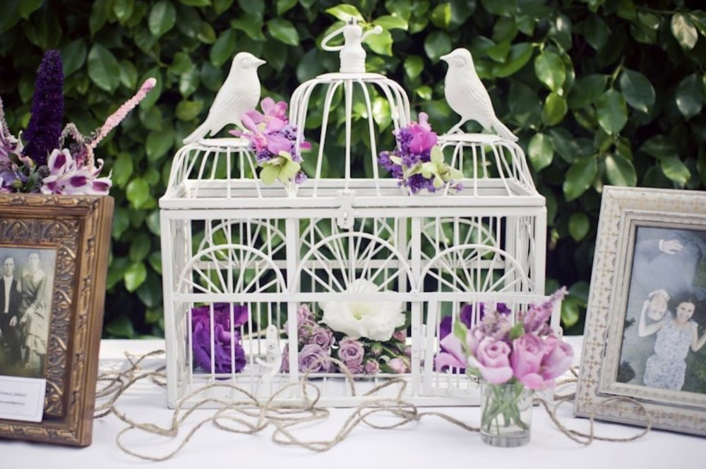 WHITE GIFT CARD BIRDCAGE - $25