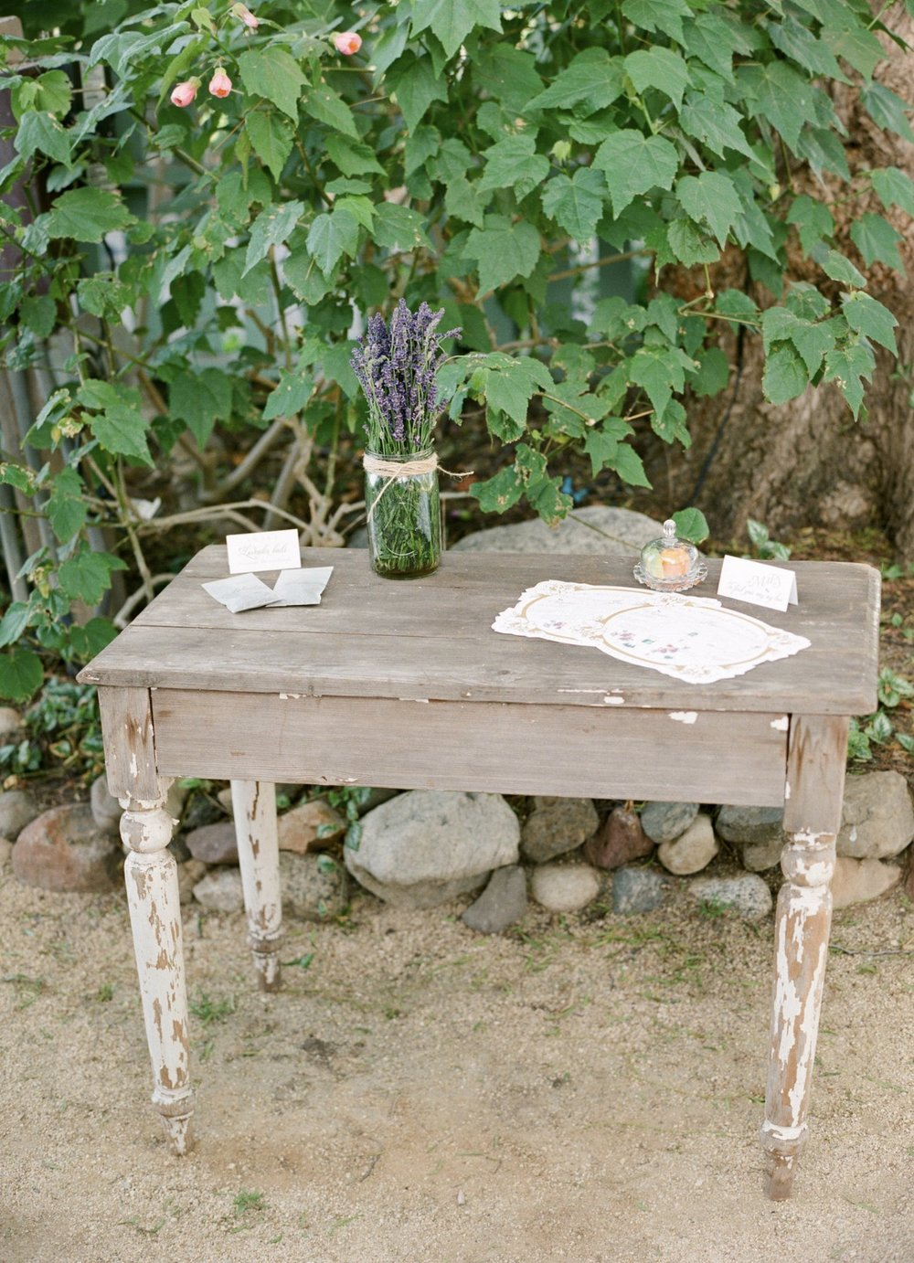 MEDIUM RUSTIC ACCENT TABLE - $50